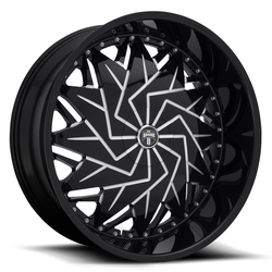 DUB Wheels Dazr (S231) - Gloss Black & Milled Rim - 26x10