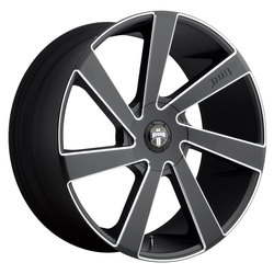 DUB Wheels Directa (S133) - Black & Milled Rim - 24x10