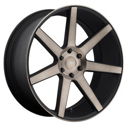 DUB Wheels Future (S127) - Black & Machined w/ Dark Tint Rim - 24x10