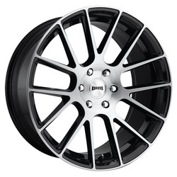 DUB Wheels Luxe (S206) - Gloss Black Brushed Rim