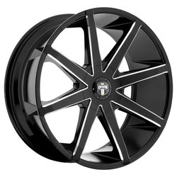 DUB Wheels Push (S109) - Black / Milled Rim - 22x9.5