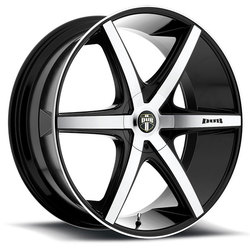 DUB Wheels Rio-5 S113 - Black / Machined Face