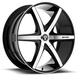 DUB Wheels Rio-5 S113 - Black / Machined Face Rim