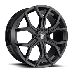 DUB Wheels Royalty (S208) - Gloss Black Rim - 22x9.5
