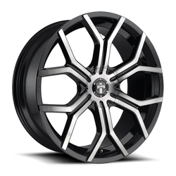 DUB Wheels Royalty (S209) - Matte Black w/Double Dark Tint Rim - 22x9.5