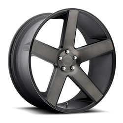 DUB Wheels Baller (S116) - Matte Black & Machined Rim - 24x9