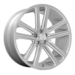 DUB Wheels Flex (S254) - Gloss Silver with Brushed Face Rim - 26x10