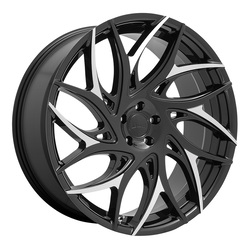 DUB Wheels G.O.A.T (S259) - Gloss Black with Machined Spokes Rim - 26x10