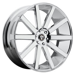 DUB Wheels Shot Calla (S120) - Chrome Rim - 22x9.5