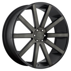 DUB Wheels Shot Calla / S121 - Black & Machined with Double Dark Tint Rim - 24x10