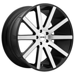 DUB Wheels Shot Calla (S221) - Gloss Black Brushed Rim