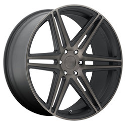 DUB Wheels Skillz (S123) - Black & Machined w/ Dark Tint Rim - 24x10