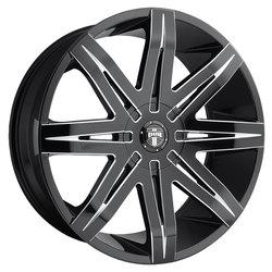 DUB Wheels Stacks (S227) - Gloss Black & Milled - 24x9.5
