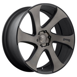 DUB Wheels Swerv (S137) - Black & Machined w/Dark Tint