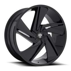 DUB Wheels Fade (S247) - Gloss Black - 22x9.5