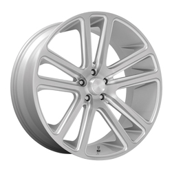DUB Wheels Flex (S257) - Silver with Brushed Face Rim