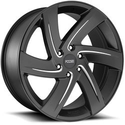 Foose Wheels Foose Wheels Bodine F167 - Matte Black & Milled - 22x9.5