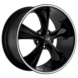Foose Wheels Legend F104 - Black Milled Rim - 17x7