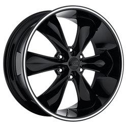 Foose Wheels Legend 6 F138 - Gloss Black - 22x9.5