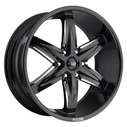 Foose Wheels Slider F162 - Gloss Black / Milled Rim - 22x9.5