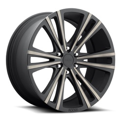Wedge F160 - Matte Black Machined - 22x9.5