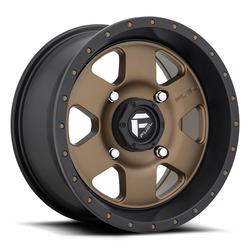 Fuel UTV Wheels Podium D617 - Matte Bronze / Black Rim