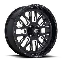 Fuel UTV Wheels Stroke D611 - Gloss Black / Milled Rim - 18x7