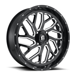 Fuel UTV Wheels Triton D581 - Gloss Black / Milled Rim - 18x7