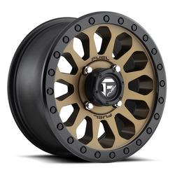 Fuel UTV Wheels Vector D600 - Matte Bronze / Black Rim - 14x7