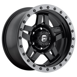Fuel Wheels Anza D557 - Matte Black with Anthracite Ring Rim - 16x8