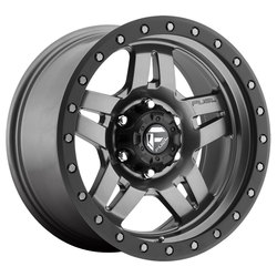 Fuel Wheels Anza D558 - Matte Anthracite with Black Ring Rim - 16x8
