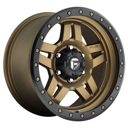 Fuel Wheels Anza D583 - Matte Bronze with Black Ring Rim - 17x8.5