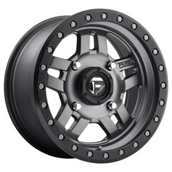 Fuel Wheels Anza D558 UTV - Matte Anthracite with Black Ring Rim - 14x7
