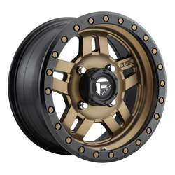 Fuel Wheels Anza D583 UTV - Matte Bronze with Black Ring Rim - 15x7