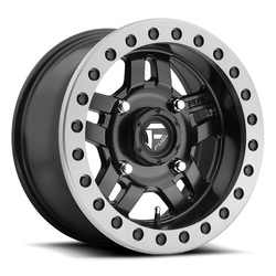 Fuel Wheels Anza Beadlock D917 UTV - Matte Black with Anthracite Ring - 14x7