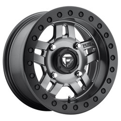 Fuel Wheels Anza Beadlock D918 UTV - Matte Anthracite with Black Ring Rim - 14x7