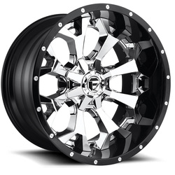 Fuel Wheels Assault D246 - Chrome Face with Gloss Black Lip - 22x14