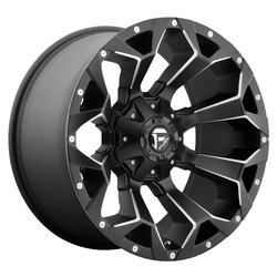 Fuel Wheels Assault D546 - Black & Milled Rim - 22x9.5