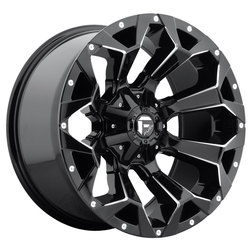 Fuel Wheels Assault D576 - Gloss Black & Milled