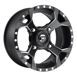 Fuel Wheels Assault D546 UTV - Black & Milled Rim - 15x7