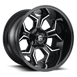 Fuel Wheels Avenger D606 - Gloss Black & Milled Rim - 20x12