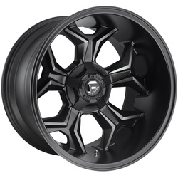 Fuel Wheels Avenger D605 - Black and DDT Rim - 20x12