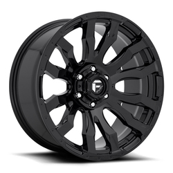 Fuel Wheels Blitz D675 - Gloss Black / Milled Rim - 22x10