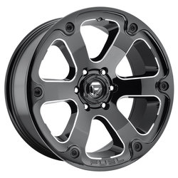 Fuel Wheels Fuel Wheels Beast D562 - Black & Milled