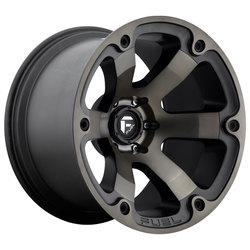 Fuel Wheels Beast D564 - Black & Machined with Dark Tint Rim - 17x10