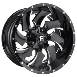 Fuel Wheels Cleaver D239 - Gloss Black & Milled - 22x12