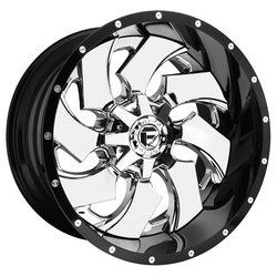 Fuel Wheels Cleaver D240 - Chrome Center w/Gloss Black Outer Rim - 24x12