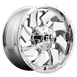 Fuel Wheels Cleaver D573 - Chrome Rim - 22x10