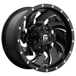 Fuel Wheels Cleaver D574 - Gloss Black & Milled Rim - 22x10