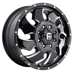Fuel Wheels Cleaver Dually Front D574 - Black & Milled Rim